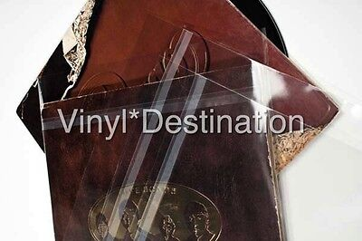 "50 12"" Vinyl Gatefold Record LP Album Covers aka Blake sleeves Clear with Flap"