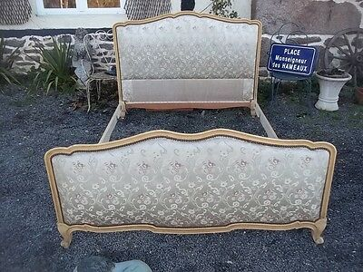 French Antique Louis Xv Revival Beautiful Double Bedstead