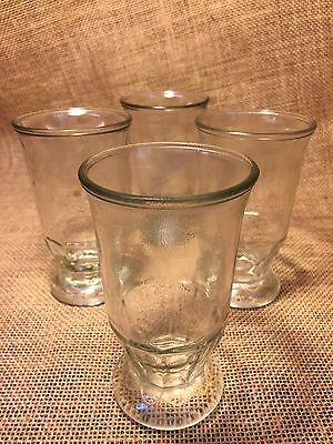 Set of 5 Vintage Clear Bell Shaped Footed Juice Glasses Jelly Jar