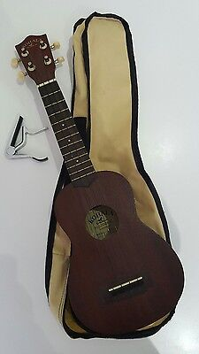 Kohala soprano ukulele with capo and soft case - excellent condition