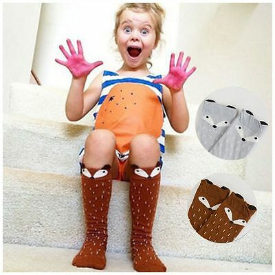 Hot Sale For Age 1-4 Years Knee High Socks  Pattern Toddlers Kids Girls