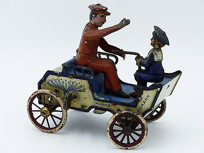 Antique Lehmann tin plate toy Naughty boy Wind up working Made in Germany rare