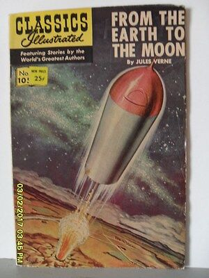 Classics Illustrated Comic No.105 ' From Earth To Moon '