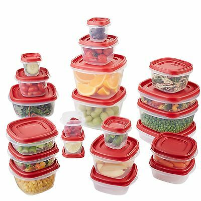 Rubbermaid Easy Find Lid Food Storage Container BPA-Free Plastic 42-Piece set...