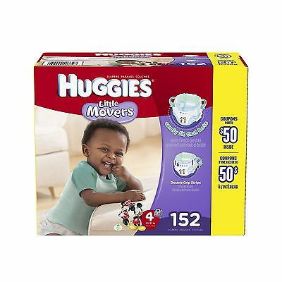 Huggies Little Movers Diapers Step 4 Economy Plus Pack 152-Count