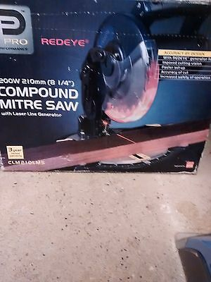 Boxed REDEYE  Compound Mitre Saw 210mm 1200W with Laser