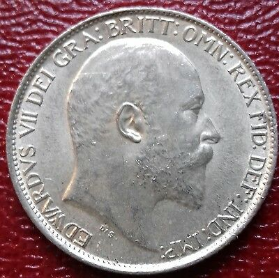 1910 Sixpence. A/unc With Near Full Lustre.