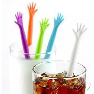 5pcs  Me Hand Sticks Swizzle Cocktail Stir Bar Drink Stirrers