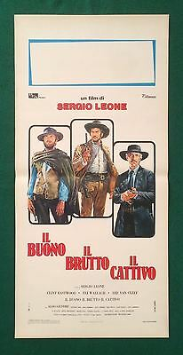 The Good The Bad And The Ugly Original Italian Poster Rolled Eastwood Leone Cult