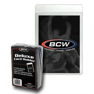 Authentic BCW Semi-Rigid Deluxe Trading Card Holders 50 Pack