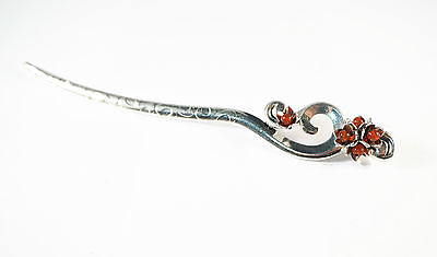 Chinese Simple and Natural Style Red Agate Hairpin