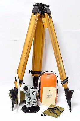 Theodolite 2T30P with Wooden Tripod Like Top Condition Russian