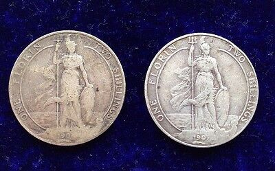 1904 1907 Edward Vii  Florin 2 Shillings Solid Silver Coin