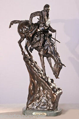 Mountain Man Solid Bronze Collectible Sculpture Statue by Remington Regular Size