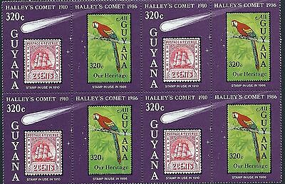 Guyana Stamps: Halley's Comet SC# 1461 - 4 Pairs MNH