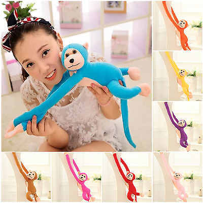 Fad 60cm Long Arm Hanging Monkey Plush Baby Toys Stuffed Animals Soft Doll Kids