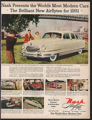NASH Automobile OCT 1950 Ambassador Airflyte Original Print Ad