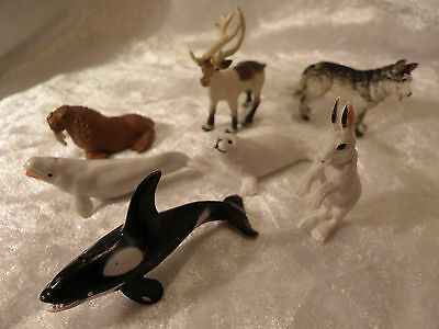 Schleich Style Safari Ltd Arctic Wildlife Lot Of 7 Excellent Collection See Pics
