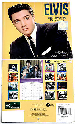"Elvis *brand New* 2013 Us 16-Month Calendar - Approx 6"" Square Size"
