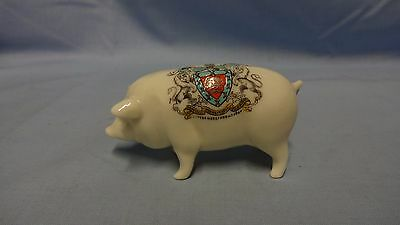 Antique/Vintage Crested Ware China Figure - Standing Pig - Hereford