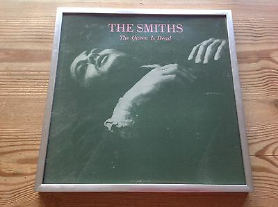 """The Smiths The Queen Is Dead Superb 12"""" X 12"""" Framed Vinyl Album Sleeve +Hanging"""