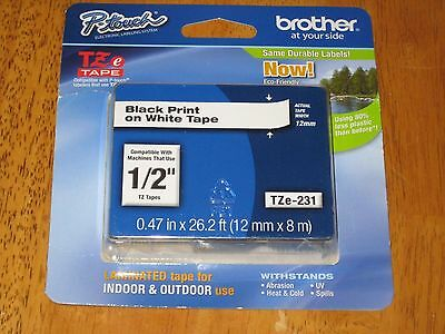 Brother® Laminated Black on White Tape (TZe-231) - Retail Packaging Most Popular