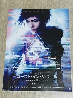 Ghost in the Shell  2017/04 Movie Flyer Mini Poster Chirashi !!