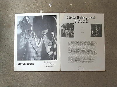 Chicago blues publicity photo & biographical sheet: LITTLE BOBBY NEELY