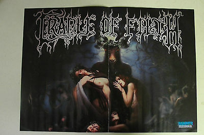 """CRADLE OF FILTH """"Hammer of the Witches"""" Two Page Magazine POSTER"""