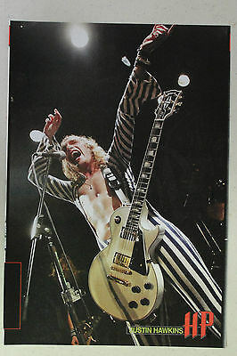 THE DARKNESS Justin Hawkins Full Page Pinup magazine clipping b&w striped outfit