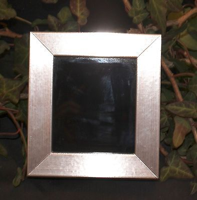 Silver Framed Black Scrying Mirror - Wicca, Pagan, Witchcraft, Dark Moon Magic