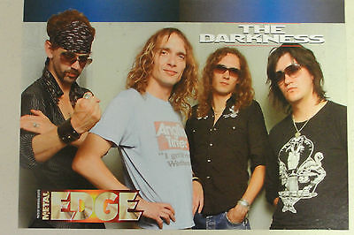 THE DARKNESS Full Page Pinup magazine clipping nice group pic