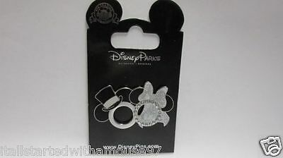 Mickey and Minnie Wedding ring Top Hat & Veil Disney Pin