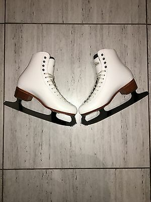 White leather Riedell figure ice skates size 6