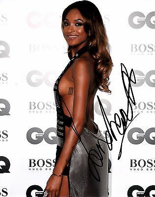 JOURDAN DUNN SIGNED 10x8 PHOTO - Victoria Secrets/Burberry