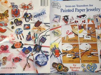 Iron-On Transfers For Painted Paper Jewelry Craft Booklet-Baatz-Butterflies/Scho