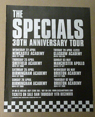 THE SPECIALS 30TH ANNIV TOUR DATES 2007 MUSIC ADVERT POSTER CLIPPING 31 x 25 cm