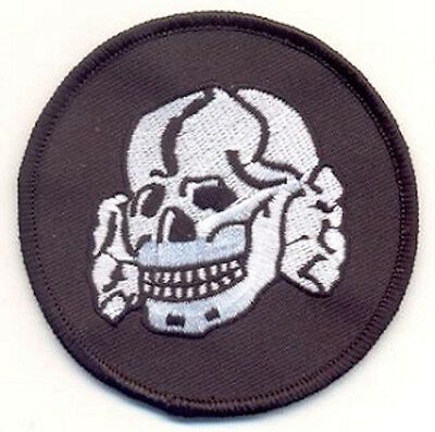 DEATHROCK SKULL and CROSSBONES PATCH - gothic rock black metal outlaw biker