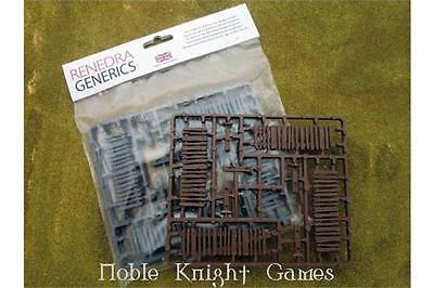 Renedra Limited Terrain 28mm Palisade Fencing Pack MINT