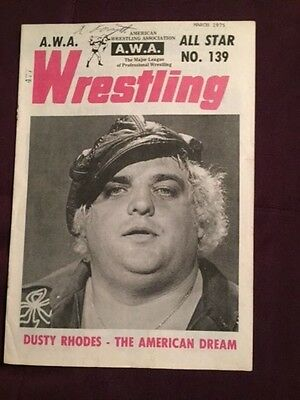 AWA Wrestling Program Mar. 1974 No. 139 Dusty Rhodes Andre The Giant