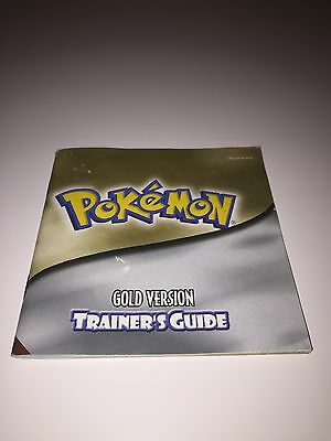 Pokemon Gold Trainers Guide Instruction Booklet Gameboy Color