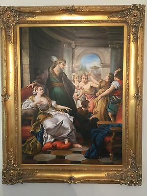 Stunning Very Large Old Master/Period Style Fine Oil Painting in Ornate Frame