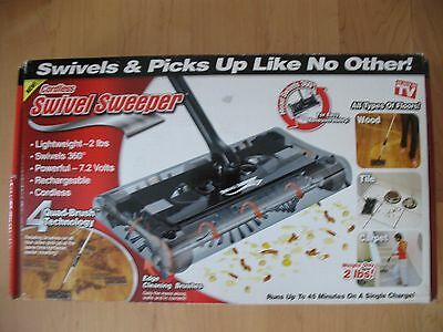 CORDLESS SWIVEL SWEEPER AS SEEN ON TV All Types of Floors Only 2 lbs 360 Degree