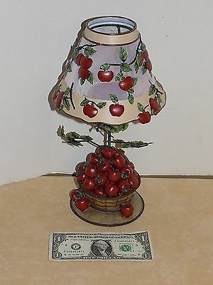 Home Interiors Vintage Discontinued Red Apple Candle Lamp
