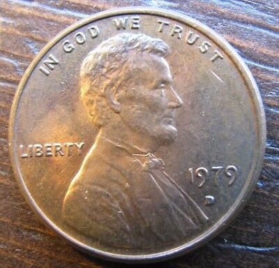 1979 D LINCOLN Penny One Cent Coin D/D D Over D Mint Mark