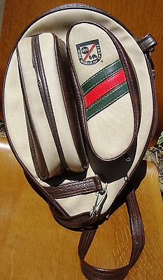 Vintage ABC Wide World of Sports Tennis Racquet Cover Holder With Two Pockets