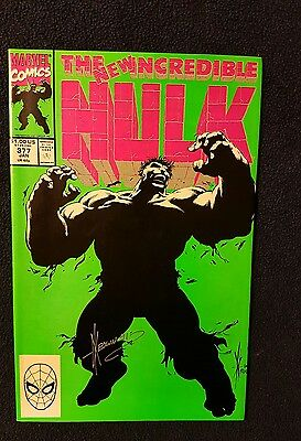 The Incredible Hulk #377 (Jan 1991, Marvel) signed by Dab Keowns