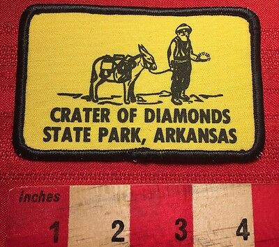 Vtg CRATER OF DIAMONDS STATE PARK ARKANSAS Patch Emblem ~ Diamond Jewell 66RR