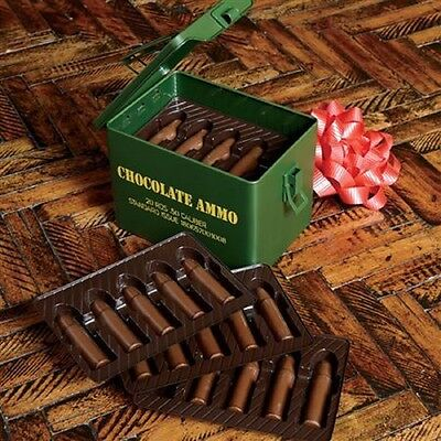 Ammo Can with 20 Rounds of Chocolate For Your Valentine's Keepsake Ammo Can