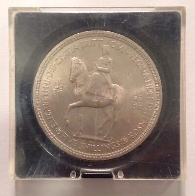 1955- Five Shilling /special Coin With Nice Condition )